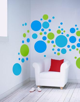 виниловая интерьерная наклейка на стену для гостиной или спальни горох, круги