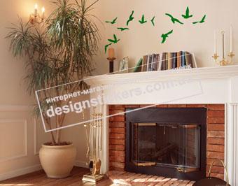 """интерьерная наклейка """"летящие птички"""" DesignStickers"""