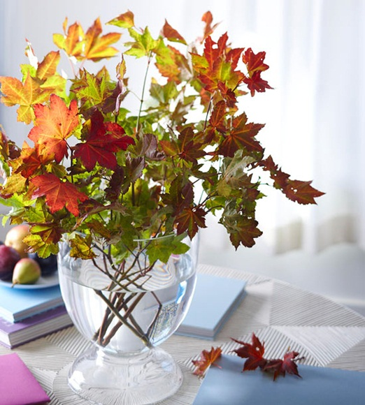 осенний декор фото, осенние листья фото