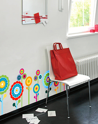 интерьерные наклейки, наклейки на стены, наклейки на мебель, наклейки цветы, виниловые наклейки, оригинальный подарок, подарок девушке