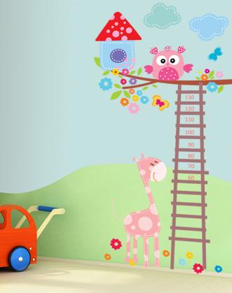 фото ростомер детский, фото ростомер жираф и сова, фото ростомер-лесенка, фото ростомер наклейка с жирафом