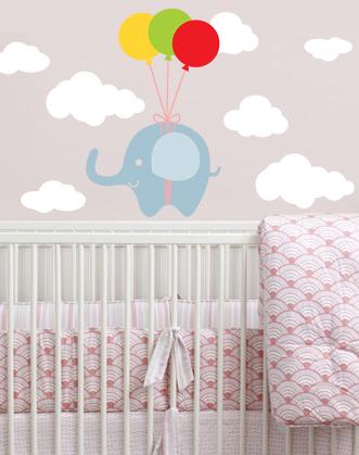 наклейка в комнату новорожденного, оригинальный подарок малышу, оригинальный подарок младенцу, подарок ребенку до года