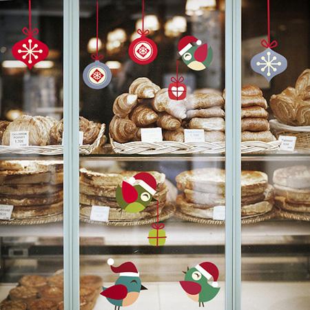 фото оформление магазина на новый год, декор вітрини до нового року фото, декор витрины магазина недорого фото