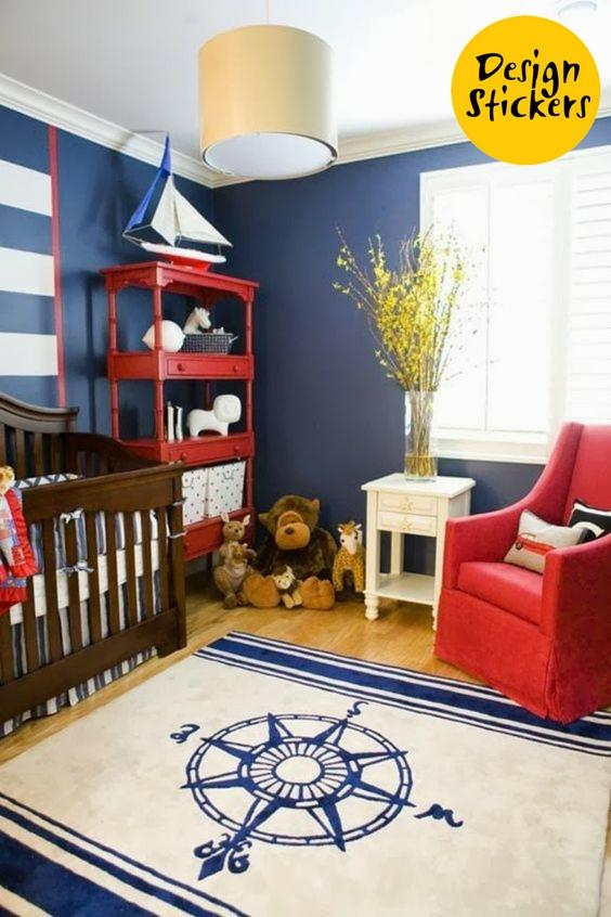 детская в морском стиле фото, детская комната в морском стиле фото