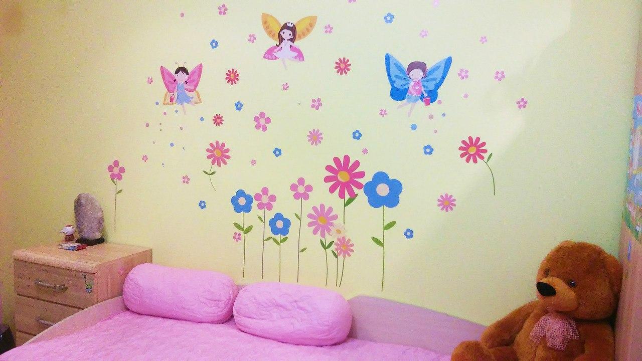 виниловая аппликация на стену (наклейка) цветы сакуры фото