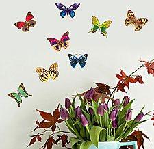 Наклейка тропические бабочки фото