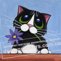 картинки для детской, декор для стен, интерьер детской, декорировать стены, картины на холсте, котик, котята, кот, кошка, котенок