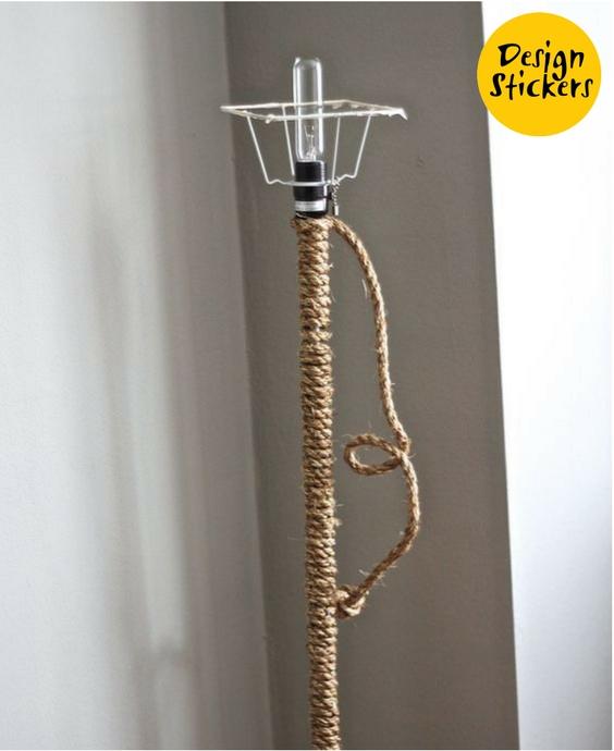 декор лампы своими руками фото, лампа в детскую в морском стиле фото