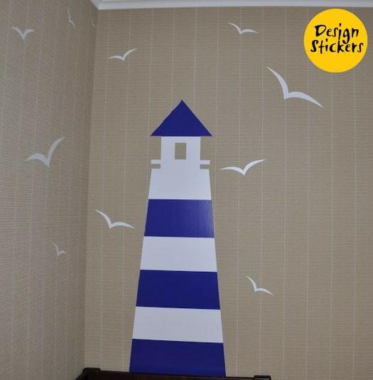 декор детской комнаты в морском стиле фото