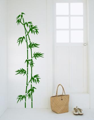 фото виниловая наклейка бамбук в коридоре