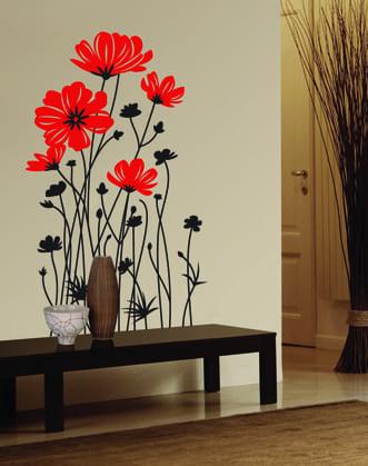Рисунки цветов на стенах своими руками фото 852