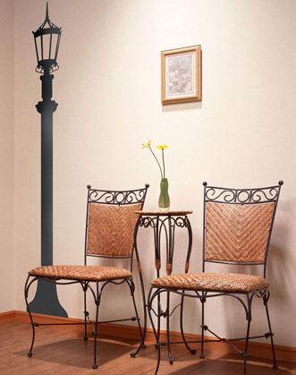 прикольная наклейка в коридор фонарь украсит стены превратив их в оригинальный декораторский прием