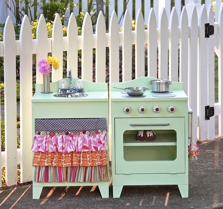 кухонная плита своими руками фото, кухонная плита в детскую фото, кухонная плита из старой тумбочки фото