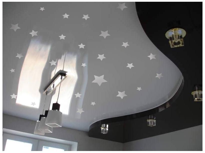 наклейки звезды фото, звезды на потолке фото, декор потолка звездами фото, звездное небо на потолке фото
