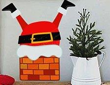 фото дед мороз новогодний декор на стену
