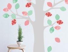 фото наклейка весеннее дерево, фото наклейка на стену дерево, фото интерьерная наклейка дерево, фото наклейка на обои дерево