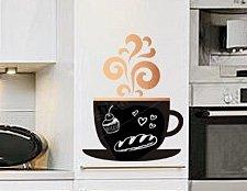 наклейка для мела чашка фото, наклейка для письма мелом чашка с кофе фото, наклейка для мела аромат кофе фото