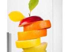 декор кухни, декор для холодильника фрукты, наклейка фрукты, виниловая наклейка фрукты, интерьерная наклейка фрукты, рисунок фрукты для кух