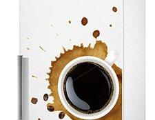 фото виниловая наклейка на холодильник, наклейка на холодильник кофе фото