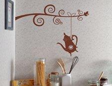 наклейка на стену чайник фото, чайник фото наклейка, интерьерная наклейка для кухни чайник фото, виниловая наклейка для кухни чайник фото