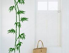 интерьерный стикер бамбук, наклейка интерьерная бамбук на стену