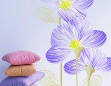 нежные цветы наклейки фото, наклейки на стену нежные цветы фото, интерьерные наклейки цветы фото, фото наклейки на шкаф цветы, фото наклейки