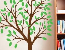 дерево с птицами наклейка на стену фото