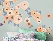Наклейки на стены цветы фото, детские наклейки на стену цветы фото, наклейки для детского сада розы фото, розы наклейки детские купить фото, детские наклейки на обои цветы фото