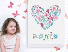 фото постер на стену именной для девочки