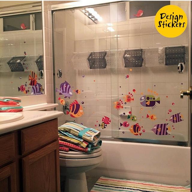 наклейка рыбы в ванную фото