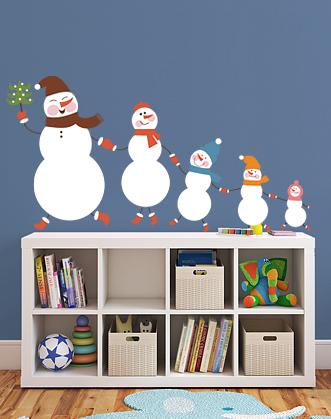 снежная семья фото, наклейка снеговик фото, подарок на новый год фото