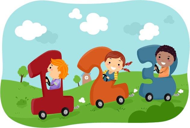 оформление для детского сада дети и цифры