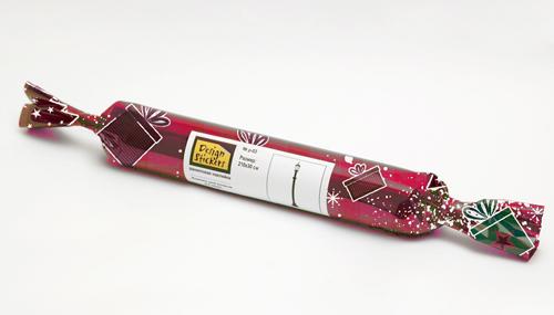 праздничная упаковка, новогодняя упаковка, упаковка для наклеек новогодняя