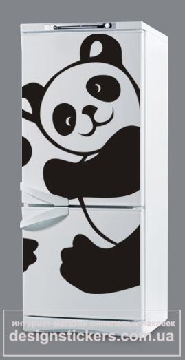 фото наклейки на холодильник панда