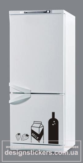 наклейки на холодильник, наклейка на холодильник, наклейка на холодильник продукты, оригинальный недорогой подарок