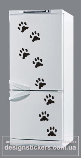 наклейки на холодильник, наклейка на холодильник следы, наклейка следы, оригинальный подарок, недорогой подарок