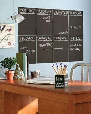 доска для расписания, оформить комнату подростка, дизайн детской, стена для рисования мелом