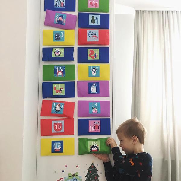 фото адвент-календарь, адвент-календарь своими руками фото, как сделать адвент-календарь фото