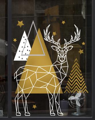 фото новогоднее оформление витрин, украшение магазина на новый год, оформление витрин фото