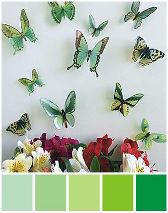 3d бабочки для декора фото