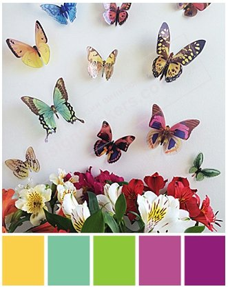 бабочки 3д на стену фото