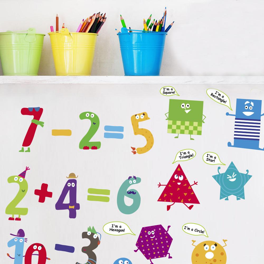 так виглядає наклейка букіи та цифри, букви та цифри в клас фото, фігури в клас фото, концепція нуш фото, як оформити клас фото, як оформити школу фото