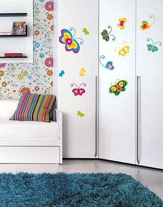 интерьерные наклейки DesignStickers, наклейки на мебель, наклейки виниловые на мебель, наклейка бабочки
