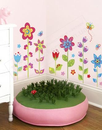 наклейки на стены, наклейки цветы, виниловые наклейки, интерьерные наклейки. подарок девушке