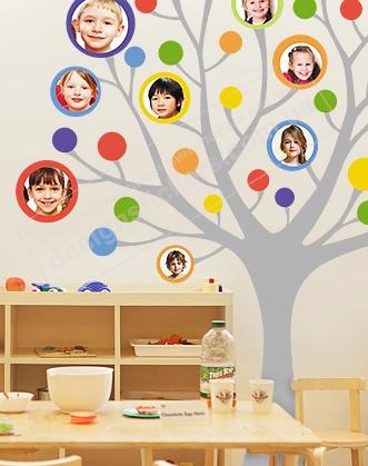 так виглядає наклейка фотодерево, наклейка фото-дерево фото, як оформити класний куточок фото, концепція нуш фото