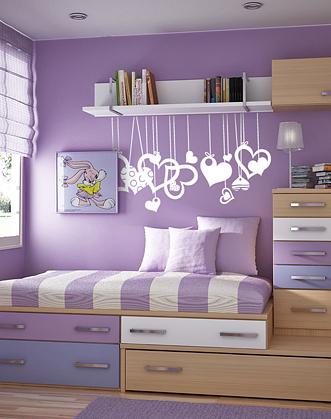 наклейки сердечки, интерьерные наклейки, сердца, сердечки, наклейки на стены, подарок на день святого валентина, подарок девушке