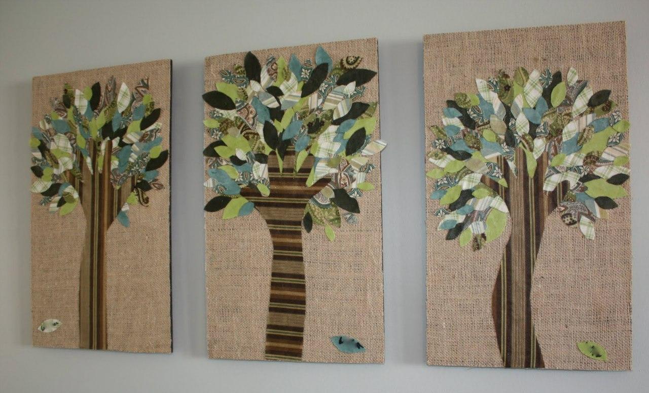 аппликация из ткани фото, аппликация на стену из ткани фото, аппликация из ткани дерево фото