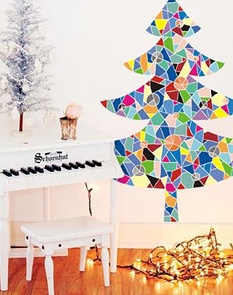 наклейка елка фото, елка фото, подарок на новый год, оригинальная елка фото