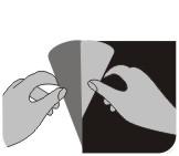 как отклеить наклейки с подложки фото