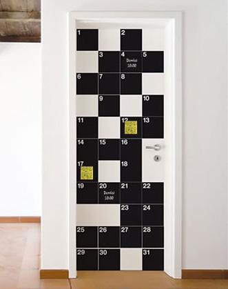 наклейка для мела, календарь фото